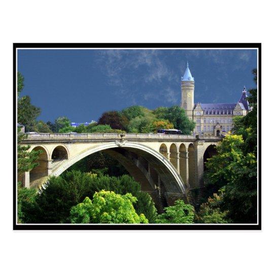 Carte Postale Postcard Adolphe Bridge From Luxemburg City