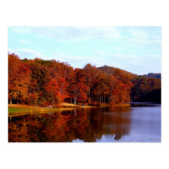 Carte Postale Postcard Autumn in Brown County, Indiana USA