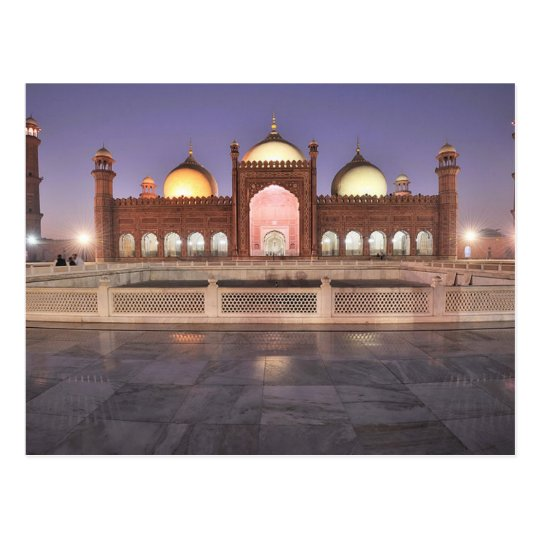 Carte Postale Postcard Badshahi Mosque in Lahore, Pakistan