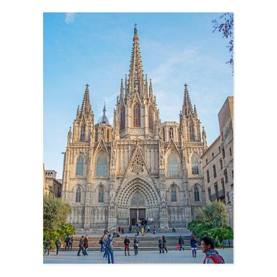 Carte Postale Postcard Barcelona Cathedral, Spain