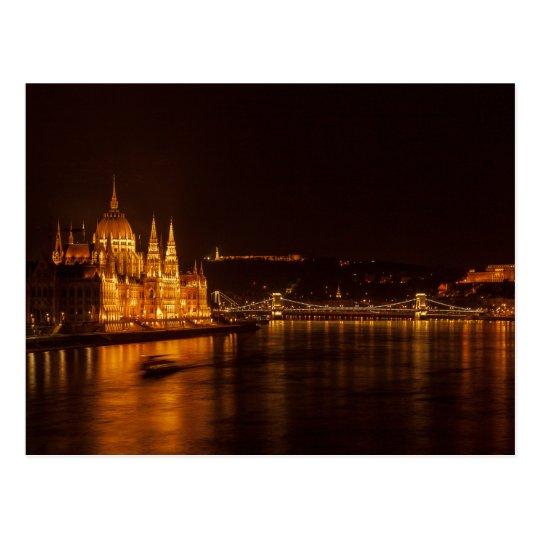 Carte Postale Postcard Budapest Parliament, Hungary