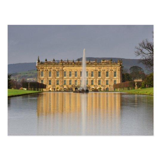 Carte Postale Postcard Chatsworth House Lake Reflections U.K.