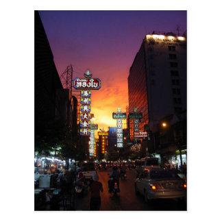 Carte Postale Postcard Chinatown, Bangkok, Thailand