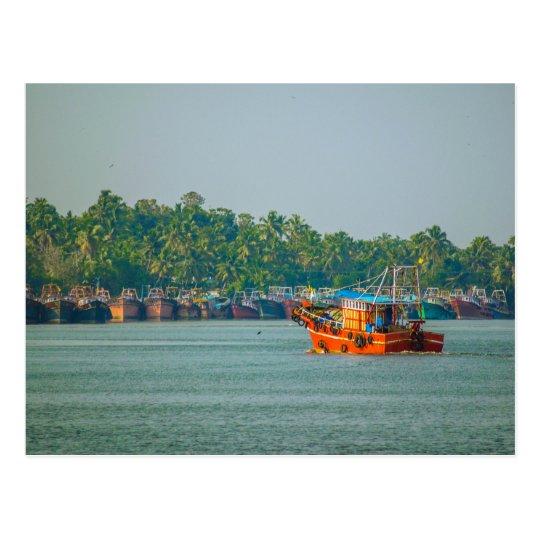 Carte Postale Postcard  - Colorful Fishing Trawler, Kerala