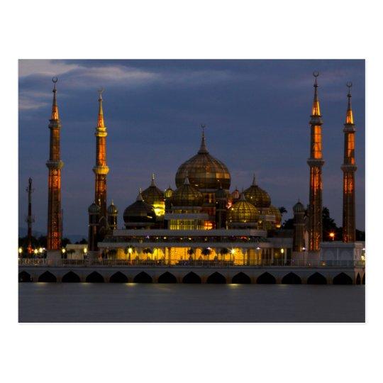 Carte Postale Postcard Crystal Mosque Terengganu, Malaysia