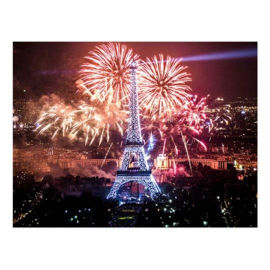 Carte Postale Postcard Eiffel Tower, Paris France