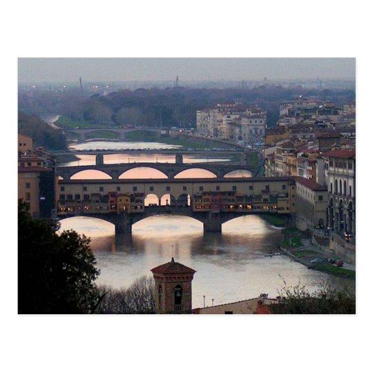 Carte Postale Postcard Florence Bridges, Italy