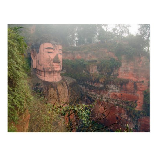 Carte Postale Postcard Giant Buddha in Leshan, Chengdu in China