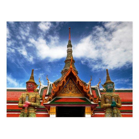 Carte Postale Postcard Grand Palace Giants, Bangkok, Thailand