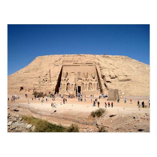 Carte Postale Postcard Great Temple of Abu Simbel Aswan, Egypt