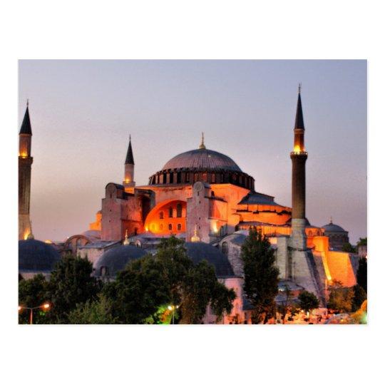Carte Postale Postcard Hagia Sophia, Istanbul at dusk