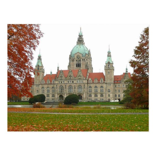 Carte Postale Postcard Hannover Neues Rathaus Herbst, Germany
