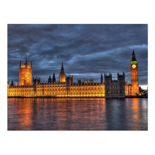 Carte Postale Postcard Houses of Parliament/Big Ben, London UK