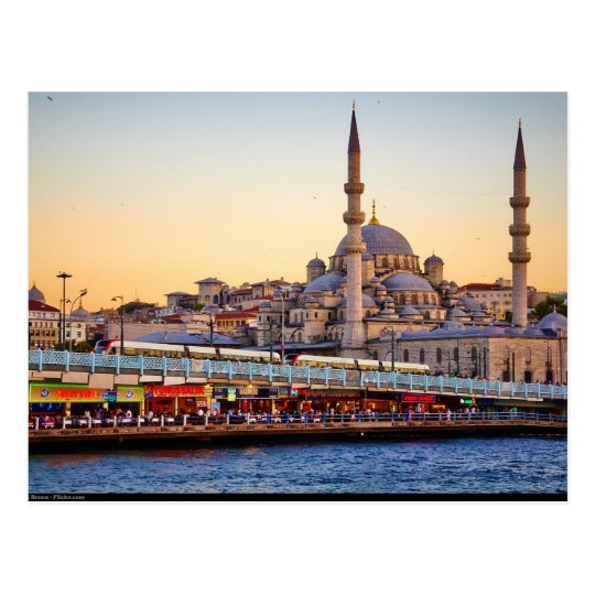 Carte Postale Postcard Istanbul, Turkey, view from the Bosphorus