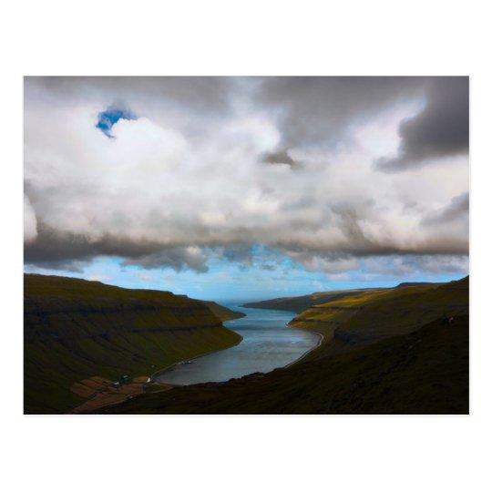 Carte Postale Postcard Kaldbaks Fjord, Faroe Islands