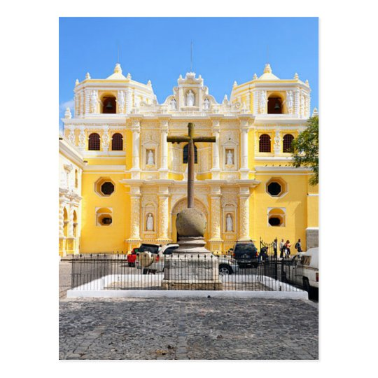 Carte Postale Postcard La Merced Church, Antigua, Guatemala