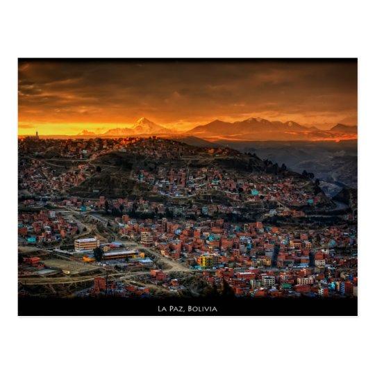 Carte Postale Postcard La Paz, Bolivia