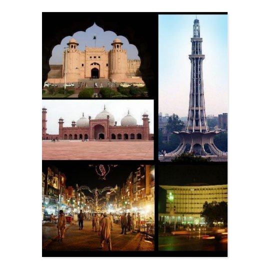 Carte Postale Postcard Lahore Monuments, Punjab, Pakistan