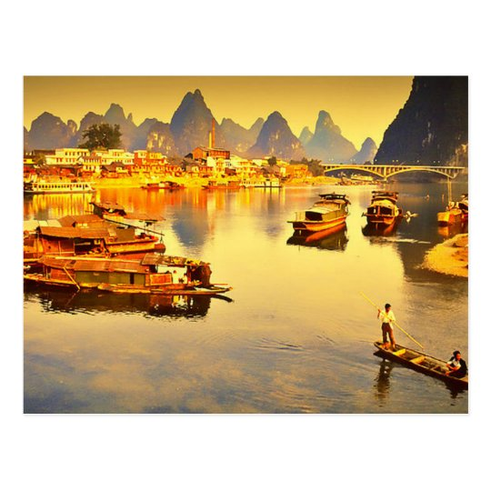 Carte Postale Postcard Lijiang River in Guilin, China