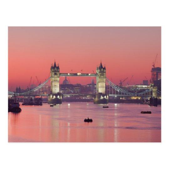 Carte Postale Postcard London Tower Bridge (sunset), London, UK