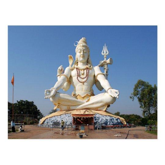 Carte Postale Postcard Lord Shiva Statue at Bijapur, India