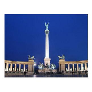 Carte Postale Postcard Millenium Monument in Budapest, Hungary