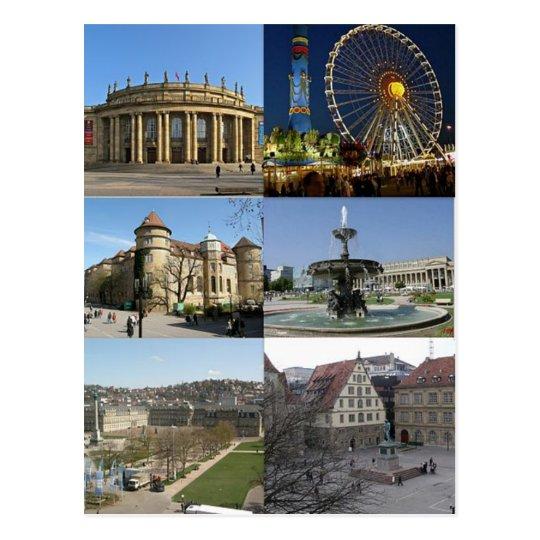 Carte Postale Postcard Monuments Of Stuttgart, Germany