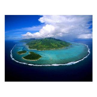 Carte Postale Postcard Moorea Island Overview, French Polynesia