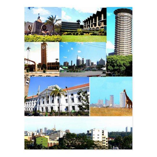 Carte Postale Postcard Nairobi Montage, Kenya