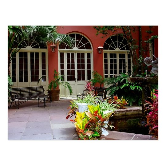 Carte Postale Postcard New Orleans, French Quarter Courtyard USA