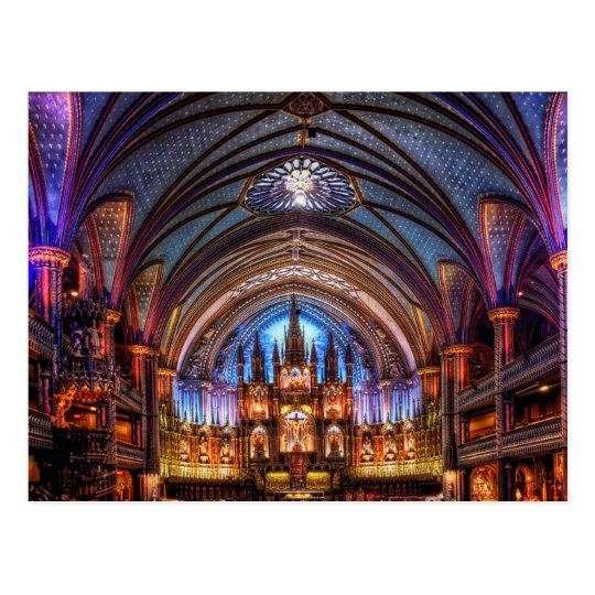 Carte Postale Postcard Notre-Dame Basilica in Montreal