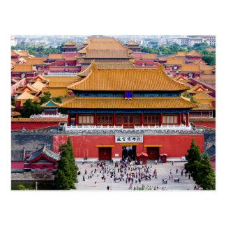 Carte Postale Postcard Overview of the Forbidden City, Beijing