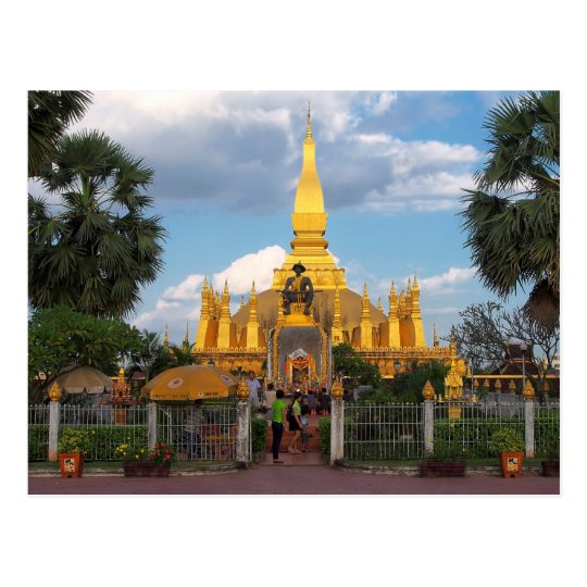 Carte Postale Postcard Pha Than Luang stupa Vientiane Laos