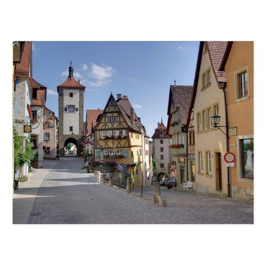 Carte Postale Postcard Plönlein Place, Rothenburg, Germany