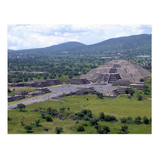Carte Postale Postcard Pyramid Of The Moon, Teotihuacán, Mexico