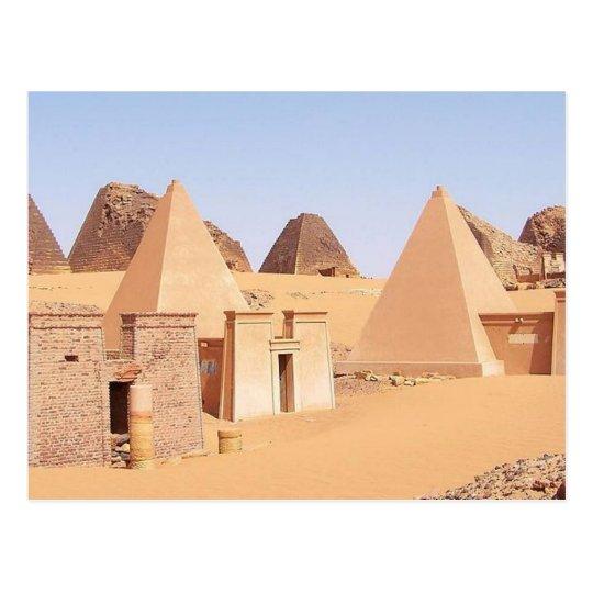 Carte Postale Postcard Pyramids of Meroe in Sudan