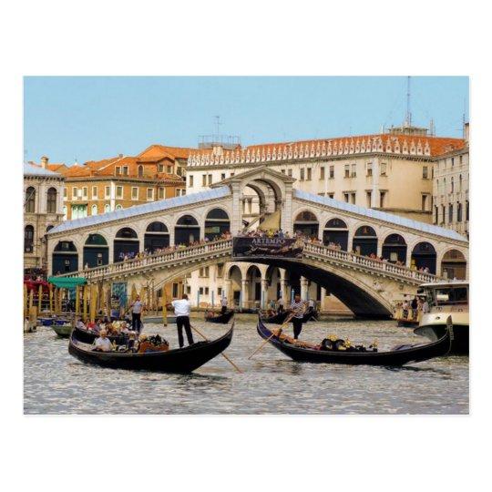 Carte Postale Postcard Rialto Bridge, Venice Italy