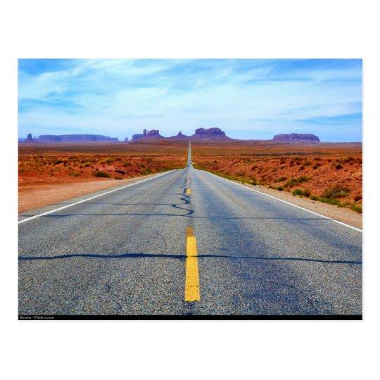 Carte Postale Postcard Road to Monument Valley , Utah, USA