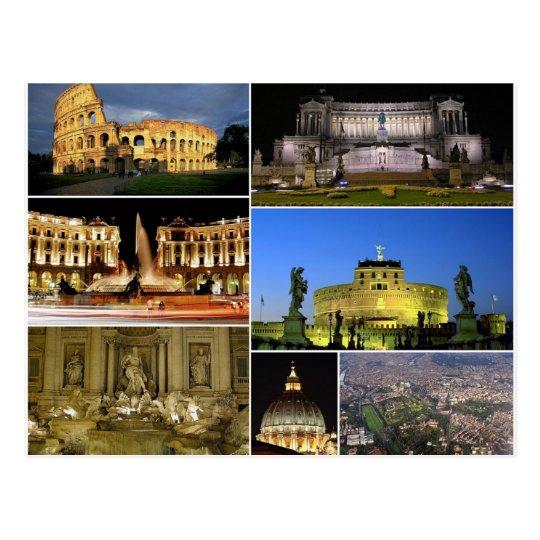 Carte Postale Postcard Rome Monuments, Italy