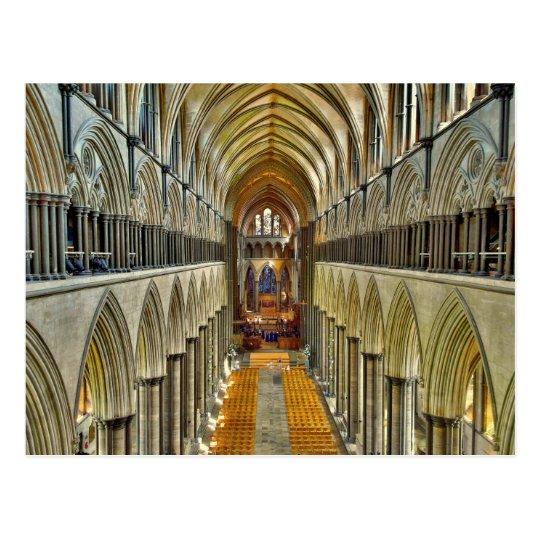 Carte Postale Postcard Salisbury Cathedral Interior