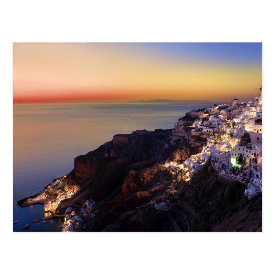 Carte Postale Postcard Santorini Island, Greece