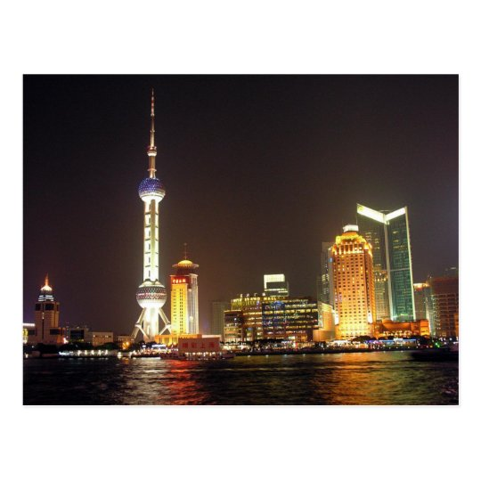 Carte Postale Postcard Shanghai Night Cruise, China