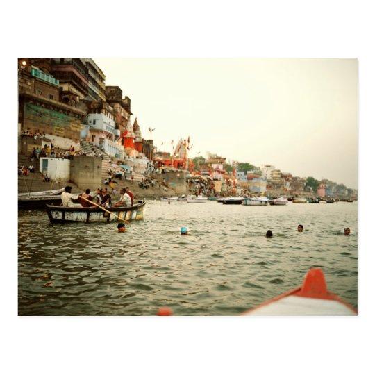 Carte Postale Postcard Swiming in the Ganges, Varanasi India