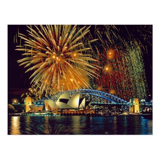 Carte Postale Postcard Sydney Opera House (Fireworks), Sydney
