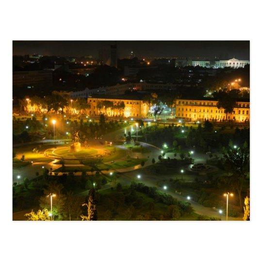Carte Postale Postcard Tashkent by night, Uzbekistan