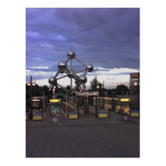 Carte Postale Postcard The Atomium in Brussels, Belgium