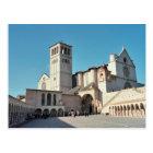 Carte Postale Postcard The Basilica of Assisi, Umbria Italy
