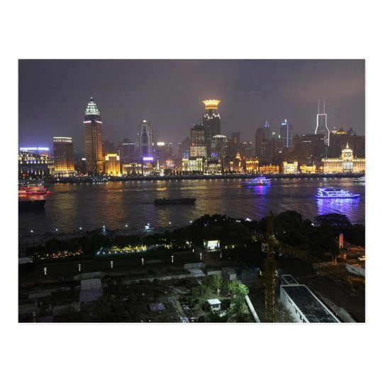 Carte Postale Postcard The bund from Pudong, Shanghai, China