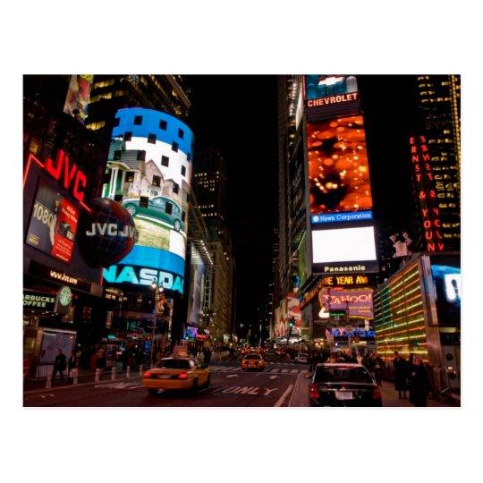 Carte Postale Postcard Times Square at night, Manhattan New York
