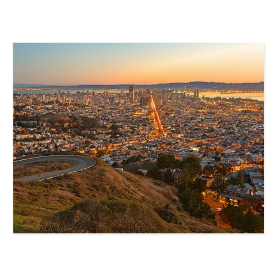 Carte Postale Postcard Twin Peaks, San Francisco, California